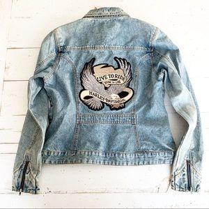 Harley Davidson Live To Ride Denim Jacket